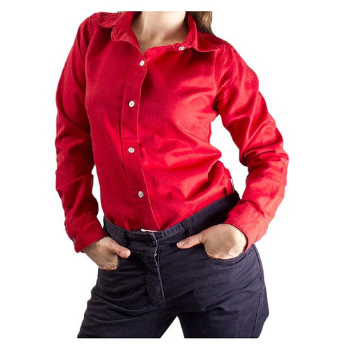NSA Womens FR UltraSoft AC Button Down Shirt NFPA 70E SHRDURGW