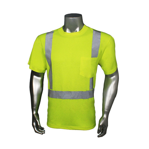 Radians Class 2 Hi Vis Lime Moisture Wicking T-Shirt LHV-TS-P Front