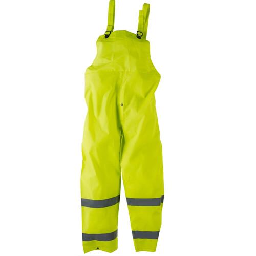 Neese Non-ANSI Hi Vis Yellow 1820BTF Econo-Viz Bib Rain Pants with Reflective 10182-13