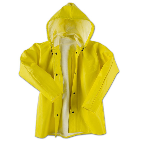 Neese Dura Quilt 56AJ Yellow Industrial Rain Jacket with Hood 56001-00 Front