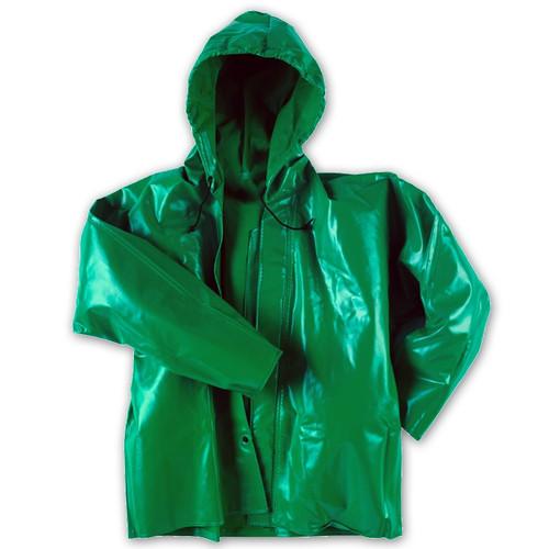 Neese ASTM F903 Chem Shield 96AJ Splash Jacket With Hood 96001-00 Close Up
