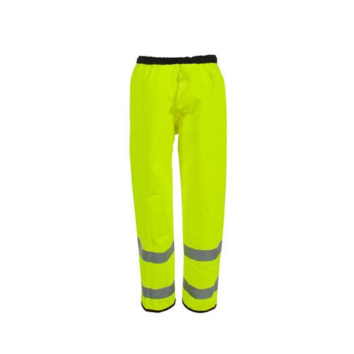 Neese ANSI Class E Hi Vis Yellow Reversible Police Rain Pants UN003-10 Hi Vis Front