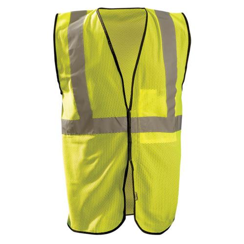 Occunomix Class 2 Hi Vis Economy Mesh Construction Vest ECO-GC Yellow Front