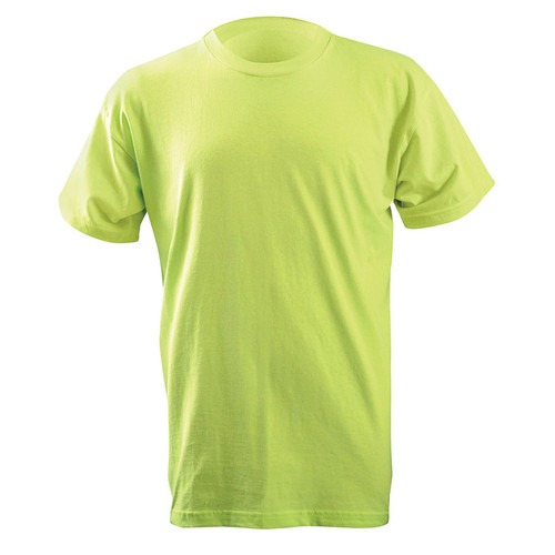 Occunomix Non-ANSI Enhanced Visibility Classic Cotton T-Shirt LUX-300 Lime/Yellow Front