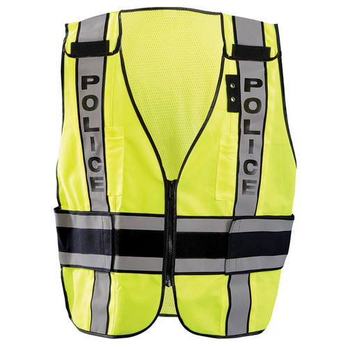 Occunomix Class 2 Hi Vis Yellow Police Public Safety DOR Vest LUX-DPSP-DOR Front