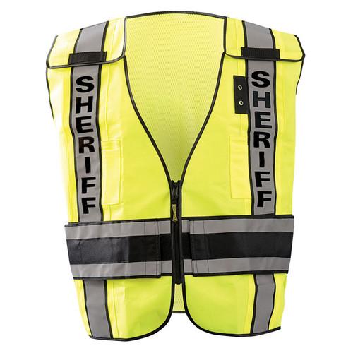 Occunomix Class 2 Hi Vis Yellow Sheriff Public Safety DOR Vest LUX-DPSS-DOR Front