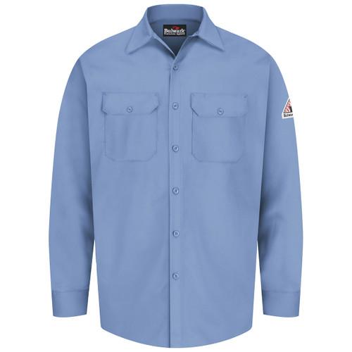 eaf81f949ffb Bulwark FR 7 oz. Excel Dress Shirt SEW2 Light Blue Front