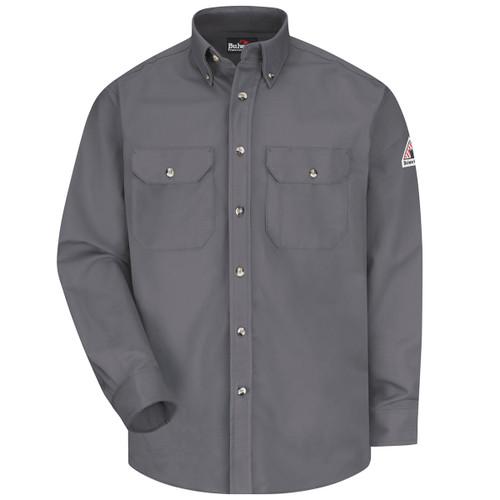 d025ffab34b4 Bulwark FR Comfortouch Excel 7 oz. Dress Work Shirt SLU2 Gray Front ...