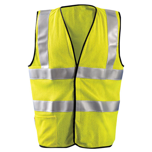 Occunomix FR Class 2 Hi Vis Yellow Mesh Safety Vest LUX-SSFGCFR Front