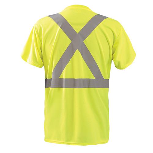 792dff1e Occunomix Class 2 Hi Vis Moisture Wicking X Back Short Sleeve T-Shirt LUX-