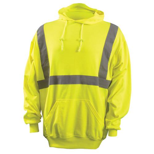 Occunomix Class 2 Hi Vis Hooded Sweatshirt LUX-SWTLH Front