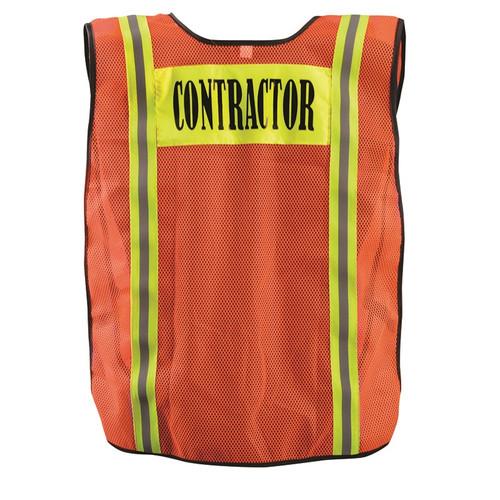 Occunomix Non-ANSI Hi Vis Mesh Contractor Vest LUX-XCON Back