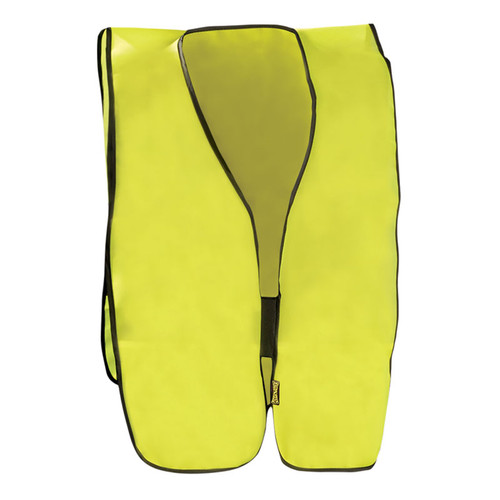 Occunomix Non ANSI Hi Vis Economy Safety Vest LUX-XNTS Yellow Front