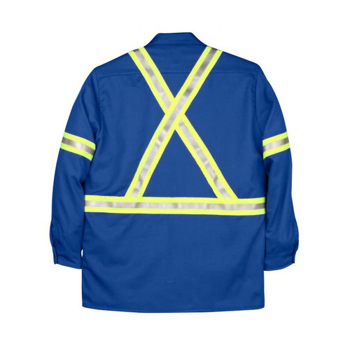 Big Bill FR Hi Vis X-Back Westex UltraSoft Work Shirt 235US7 Royal Blue Back