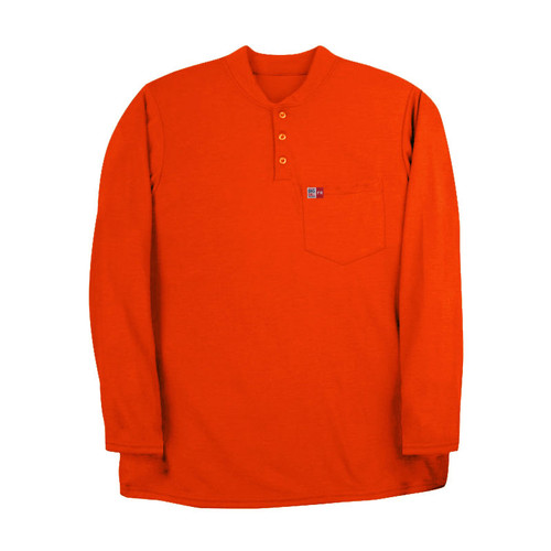 Big Bill FR 8 oz. Long Sleeve Henley DW18PD8 Orange