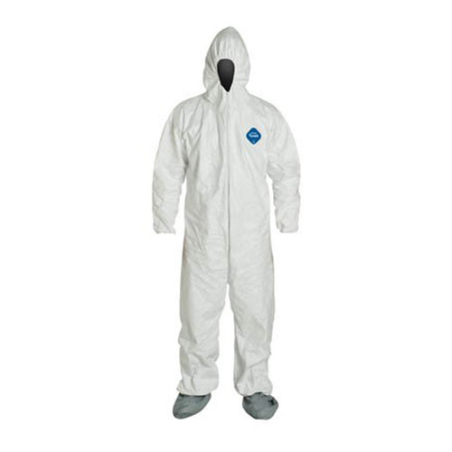 Sunrise Case of 25 DuPont Tyvek Coveralls with Hood and Coated Boots TY122-S-WH