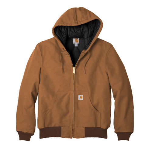 Carhartt Flannel Lined Active Jacket J140 Brown Front