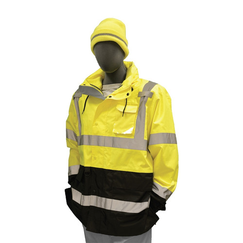 Majestic Class 3 Hi Vis Yellow Maxx-On Rain Parka 75-1307