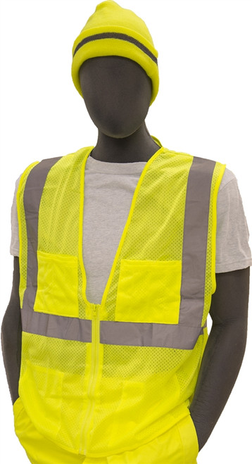 Majestic Class 2 Hi Vis Safety Yellow Vest 75-3231