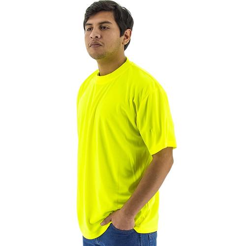 Majestic Non-ANSI Hi Vis Yellow Moisture Wicking T-Shirt 75-5003