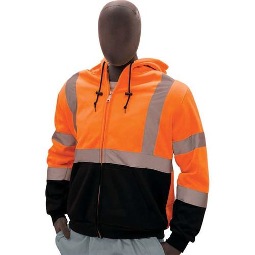Majestic Class 3 Hi Vis Orange Hooded Sweatshirt with Teflon Protector 75-5332