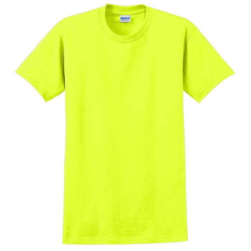 Gildan Enhanced Visibility Ultra Cotton T-Shirt 2000 Safety Green Front