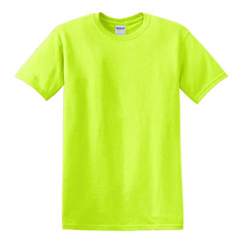 Gildan Hi Vis Heavy Cotton T-Shirt 5000 Safety Green Front