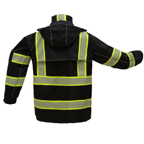 02e06bc3759 GSS Non-ANSI Premium ONYX Black Rain Jacket with Segment Tape and ...