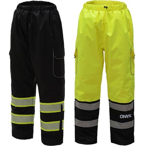 GSS Class E Hi Vis Lime Rain Pants with Segment Tape 6711