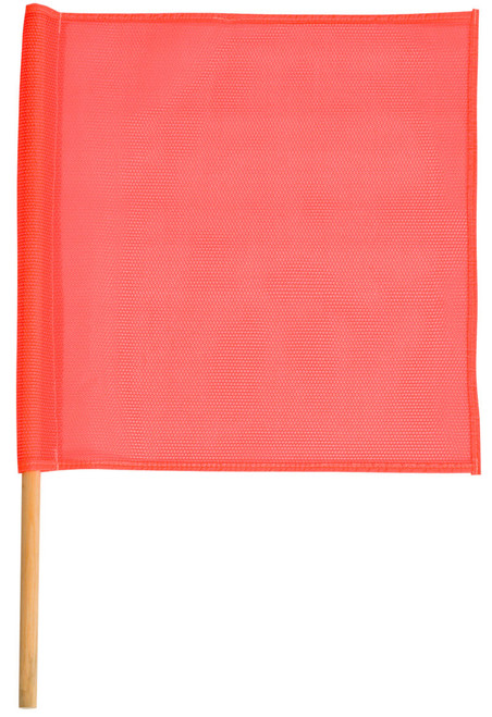 Safety Flag Made With Red Mesh SFKV18-24TR