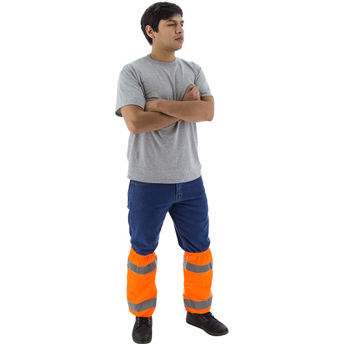 Majestic Pack of 10 Class E Hi Vis Orange Gaiters 75-2392