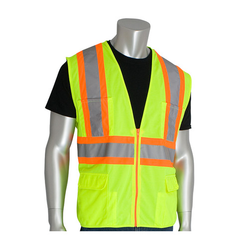 PIP Class 2 Hi Vis Two-Tone 11 Pocket Solid Surveyor 302-MAP