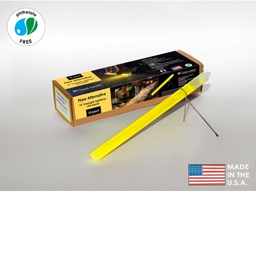Cyalume Box of 40 Yellow Glow Sticks 9-27030