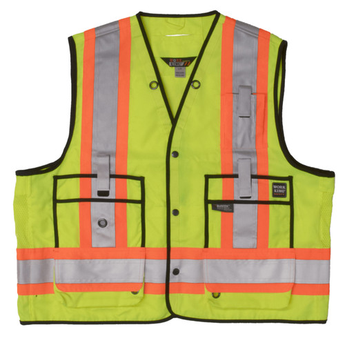 c9015221a0fce ... Work King Safety Class 2 Hi Vis Two-Tone X-Back Surveyor Safety Vest ...