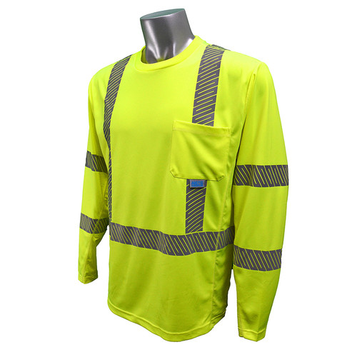 Radians Class 3 Hi Vis Green Arctic Radwear T-Shirt with Segmented Tape ST31-3PGS Front