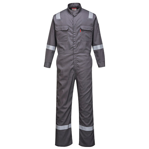 PortWest FR Bizflame Iona Coverall FR94 Grey Front