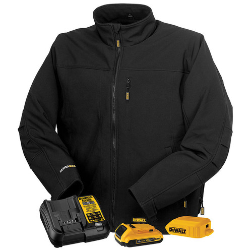DeWALT Heated Soft Shell Black Work Jacket Kit DCHJ060ABD1 Kit
