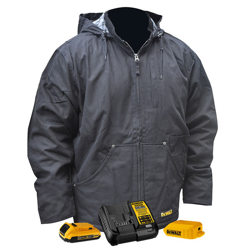 DeWALT Heated Black Heavy Duty Work Jacket Kit DCHJ076ABD1 Kit