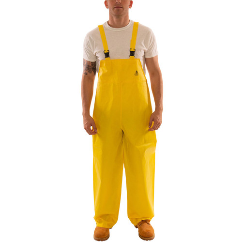 Tingley ASTM D6413 Industrial Yellow DuraScrim Rain Overalls O56007 Front