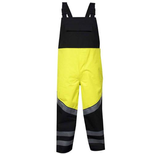 NSA FR Class E Hi Vis Yellow Hydrolite Bib Overalls HYDROBIB-YB Front