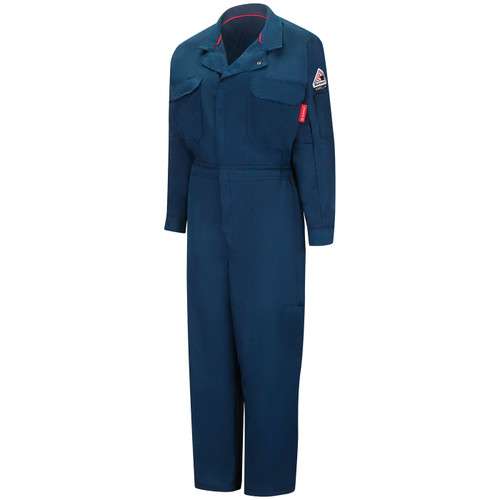 Bulwark Womens FR iQ Mobilility Navy Coverall QC21NV Front