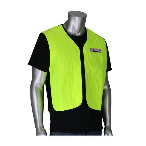 PIP Non-ANSI Hi Vis Yellow Evaporative Cooling Vest 390-EZ100 Front