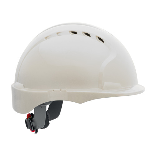 PIP Class C Vented Short Brim Hard Hat with 6-Point Ratched Adjustment 280-EV6151SV White