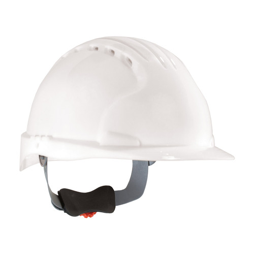 PIP Class C Vented Standard Brim Hard Hat with 6-Point Ratchet Adjustment 280-EV6151V White