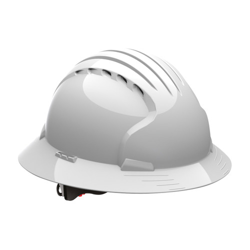 PIP Class C Vented Full Brim Hard Hat with 6-Point Ratchet Adjusment 280-EV6161V White