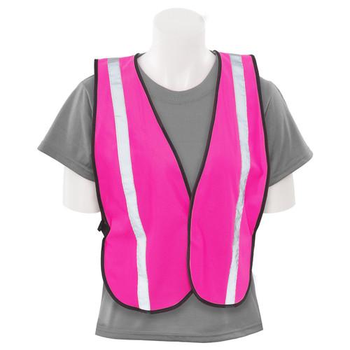 Girl Power at Work Non-ANSI Hi Vis Pink Ladies Safety Vest S102 Front