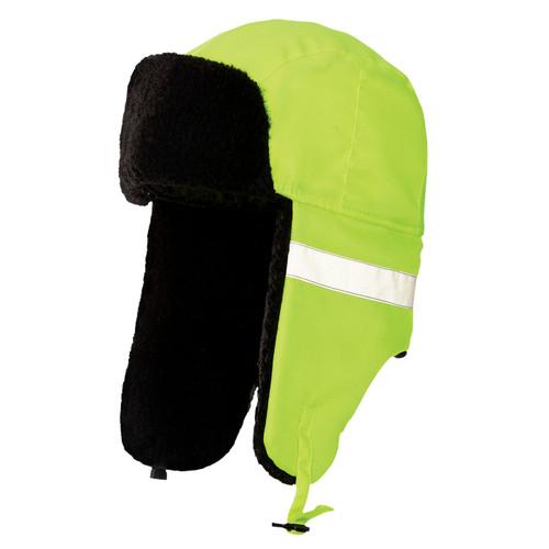 Tough Duck Non-ANSI Hi Vis Aviator Hat i15516 Fluorescent Green
