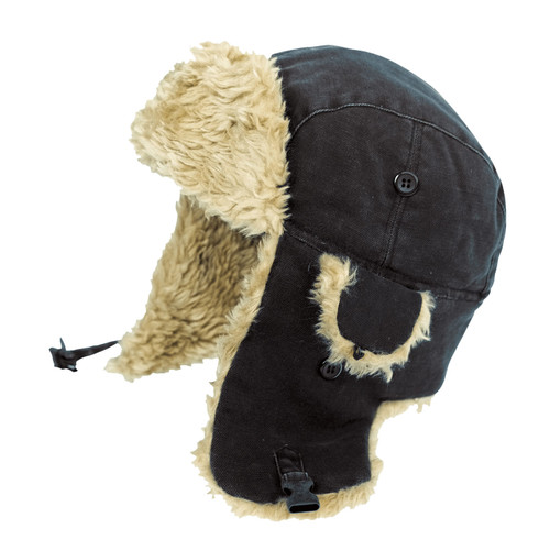 Tough Duck Cold Weather Aviator Hat i15016 Black