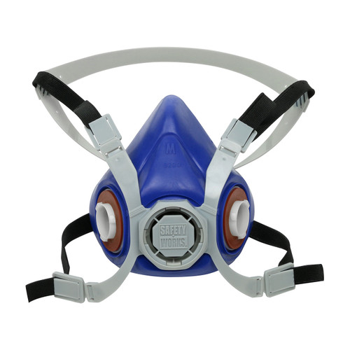 Case of 12 Safety Works Half-Mask Respirators SWX0038 Mask