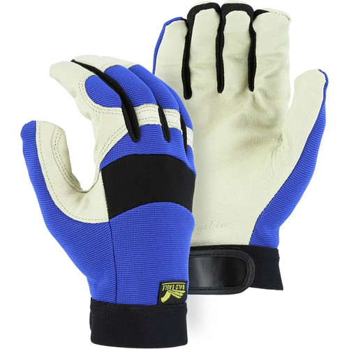 Majestic Box of 12 Pair Blue Bald Eagle Mechanics Gloves 2152